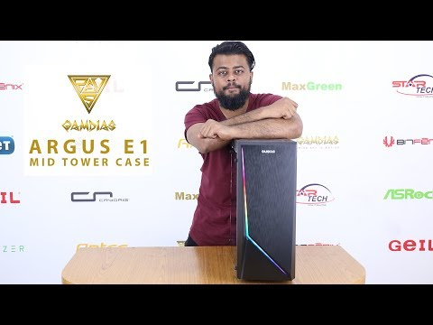 Rainbow RGB Streaming Case - Gamdias ARGUS E1 Bangla Review | Star Tech