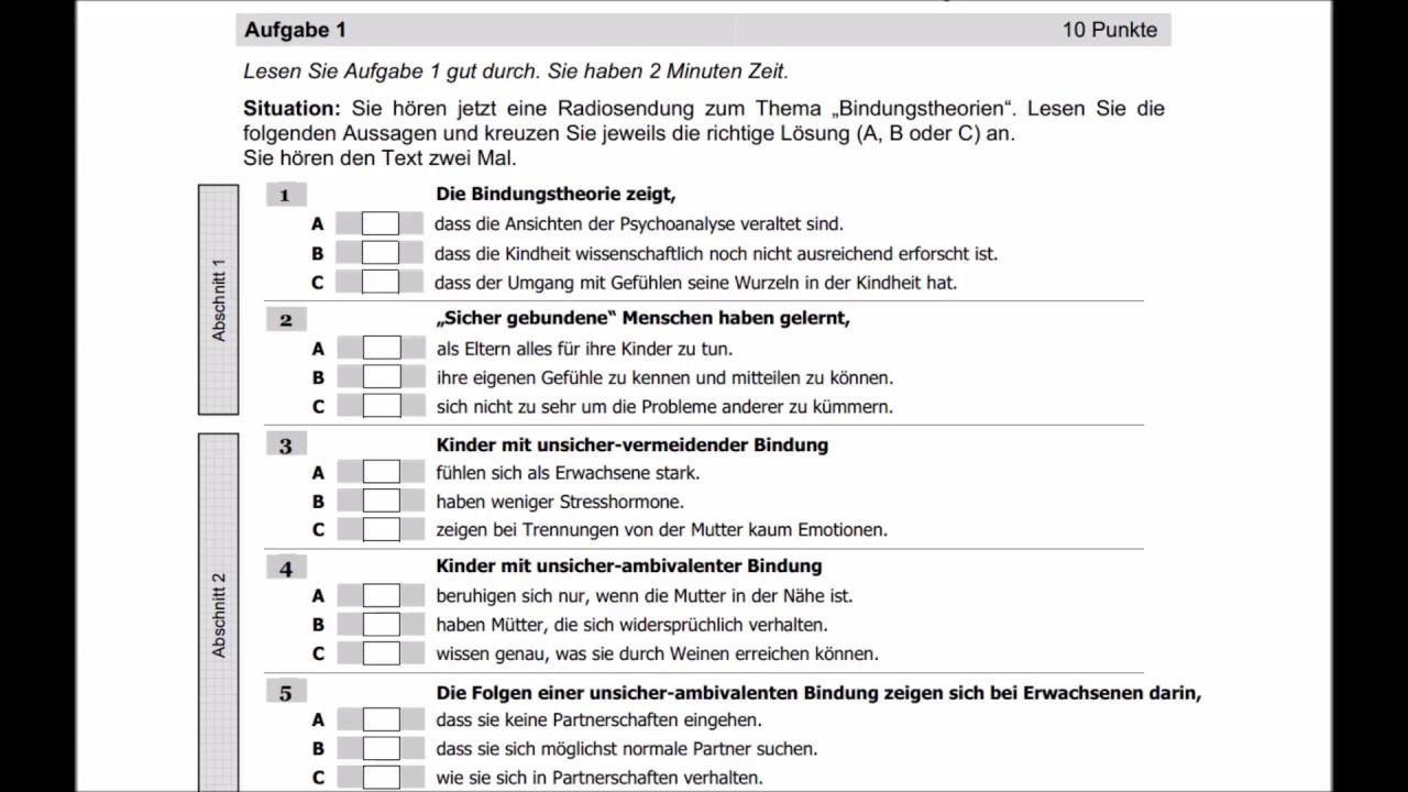 ösd Zertifikat C1 Hörverstehen Teil 1 Youtube