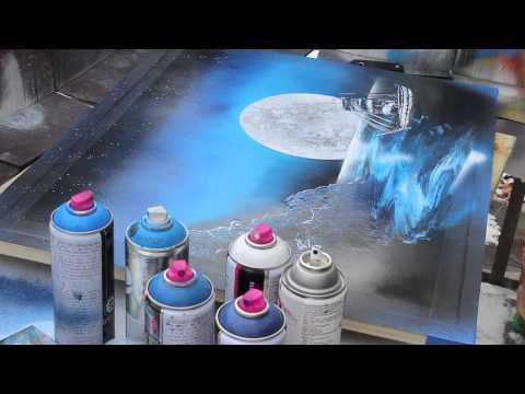 "Kryptc's "" S.S.  AWOL "" – Spray Paint Art"
