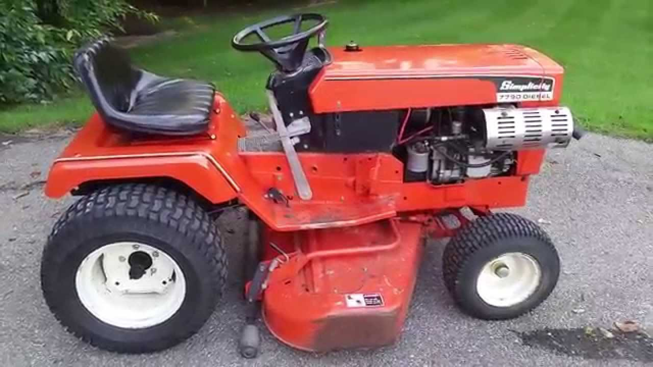 Simplicity 7790 Diesel Garden Tractor For Sale Youtube
