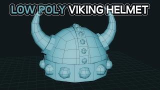 3D Modeling - Low Poly Viking Helmet Tutorial: Maya LT 2017 (Part 1)