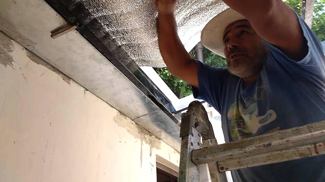 Techo de chapa con ca o estructural 1 doovi for Como hacer un techo economico