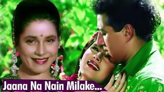 Jaana Na Nain Milake Song   Mohammed Aziz And Alka Yagnik Song   Sunny Deol   Neelam   Shankra Song