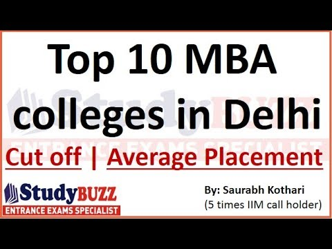 Top 10 MBA colleges in Delhi-NCR with cut offs & average pla