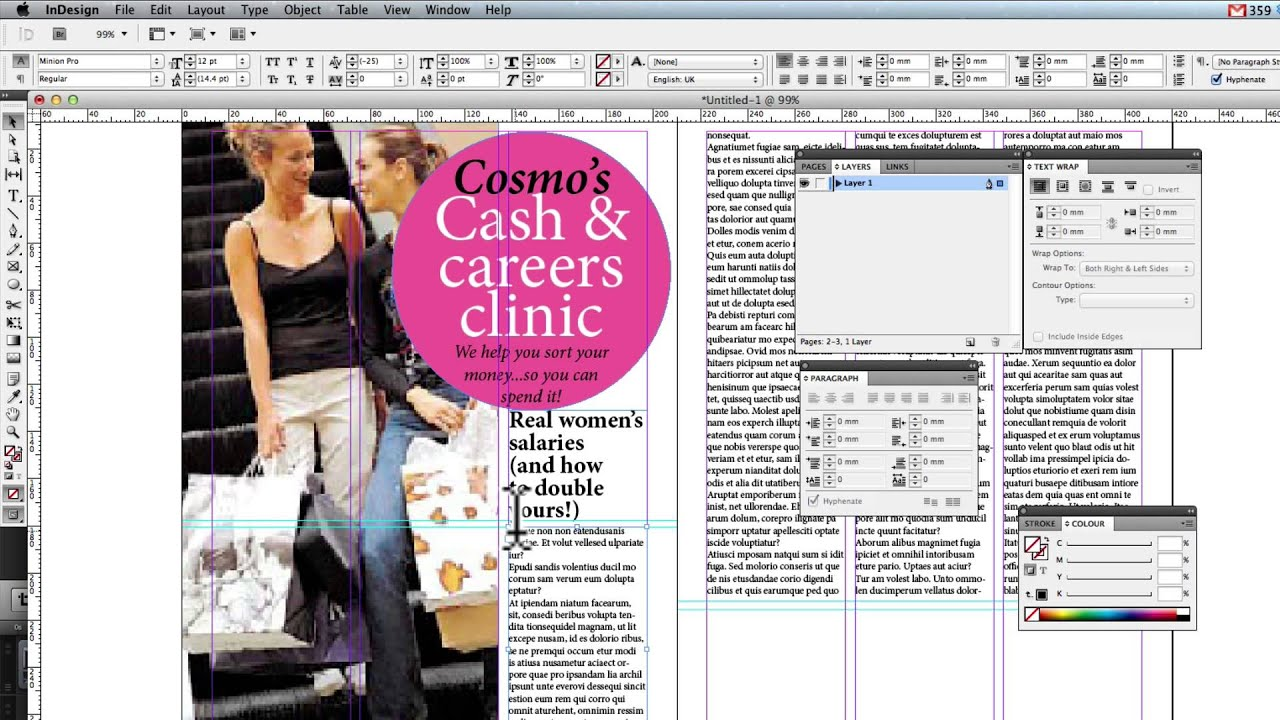 Creating A Double Page Spread In Indesign Youtube