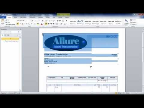 How To Make An Invoice From Word Using An Invoice Template - YouTube - how to make invoice in word