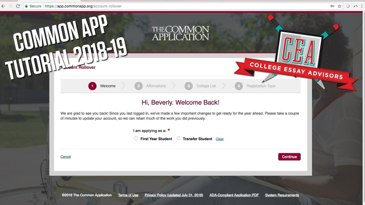 the common application pdf
