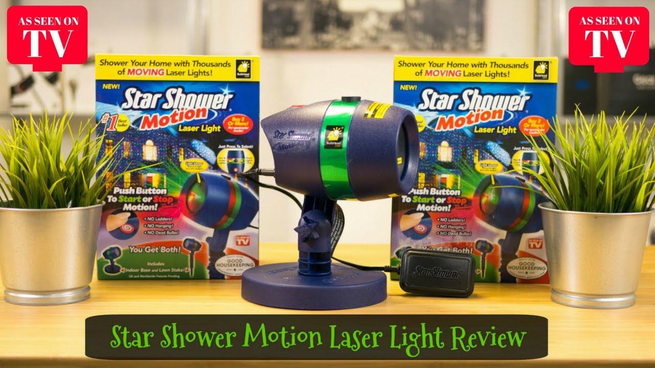 star shower motion laser light review 4k as seen on tv christmas lights holiday demonstration
