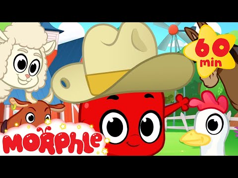 Morphle and the Farm Animals (+1 hour funny Morphle kids videos compilation)