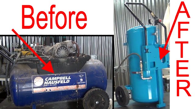 Making A Reserve Compressed Air Tank From An Old Air
