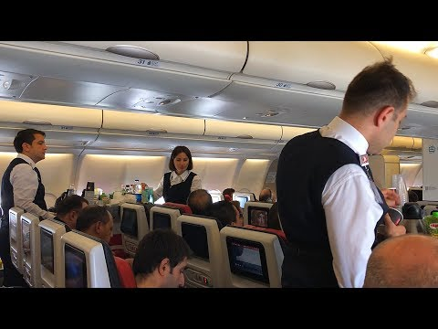 Turkish Airlines Airbus A330-300 Economy Class Flight Istanbul to Amsterdam