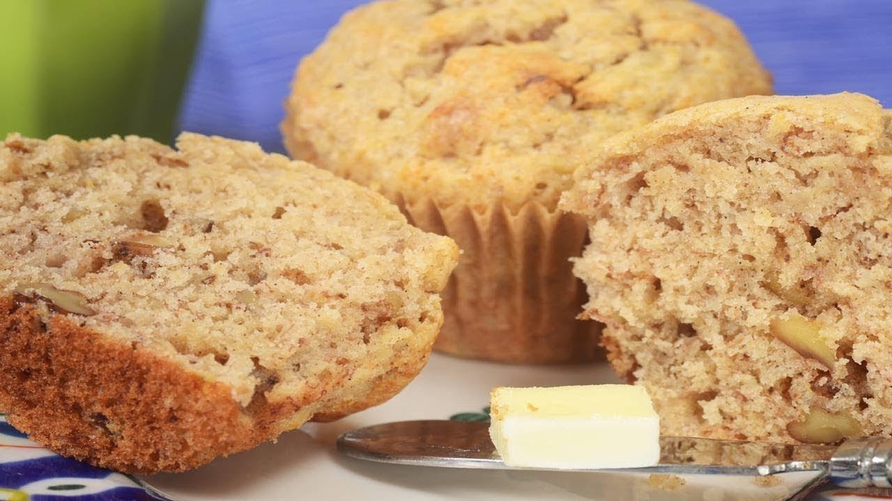 Banana Muffins Recipe & Video