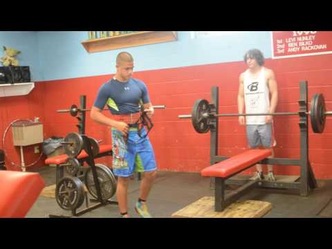 Heaviest Bench Press 13 year old male,Zachary Weakland