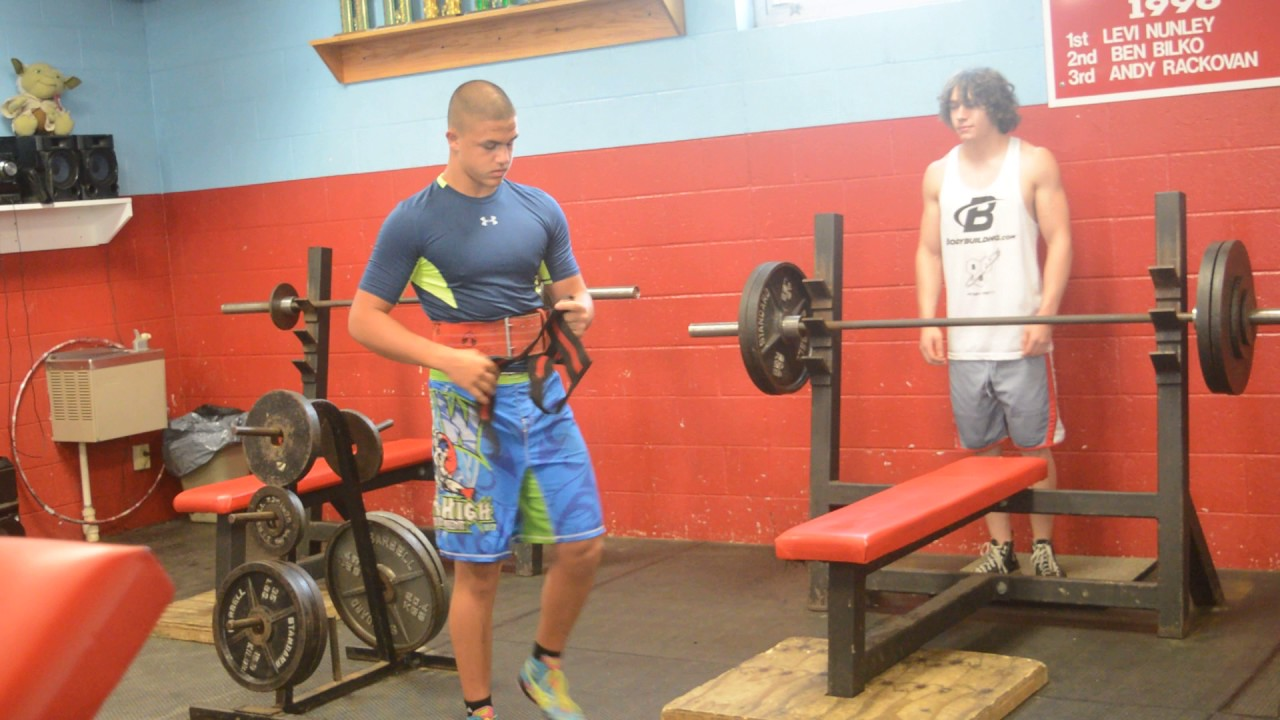 Heaviest Bench Press 13 year old male, Zachary Weakland
