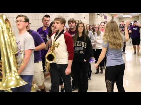 Kings High School Hockey - Hampshire High School Drum Line & Band