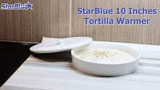 Keep One Hour Heat for Tortilla, Roti, Chapati by Ceramic Tortilla Warmer