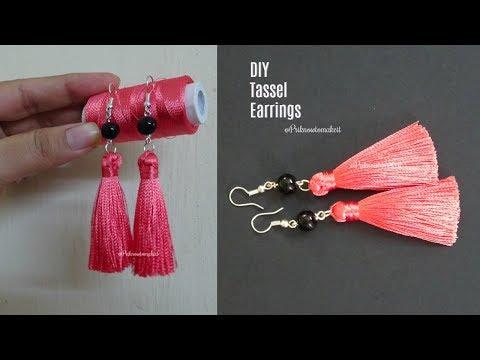 Tassel earrings | How to make silk thread Tassel earrings at home | jewelry making