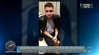 Chefe de quadrilha de golpistas é preso em São Paulo | SBT Brasil (10/10/18)