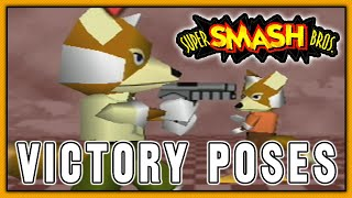 Super Smash Bros. - All Victory / No Contest Poses