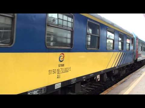 Bosnia Herzegovina:  Arrival of stock for day train to Zagreb at Sarajevo 03/09/14
