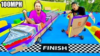 FASTEST BOX FORT CAR WINS!!