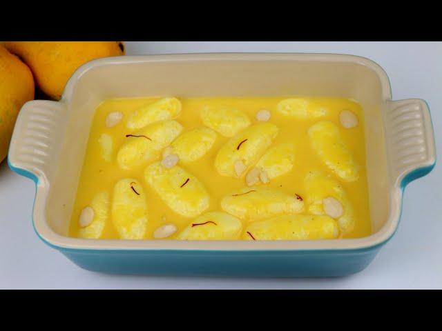 নতুন স্বাদের তুলতুলে পাকা আমের রসমালাই | Mango Roshmalai /Rashmalai | Mango Recipe