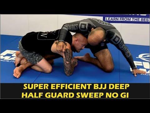 Super Efficient BJJ Deep Half Guard Sweep No Gi By Jeff Glover