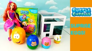 Bubble Guppies Stacking Cups Surprise Eggs My Busy Book Barbie Helps Find Missing Guppies!