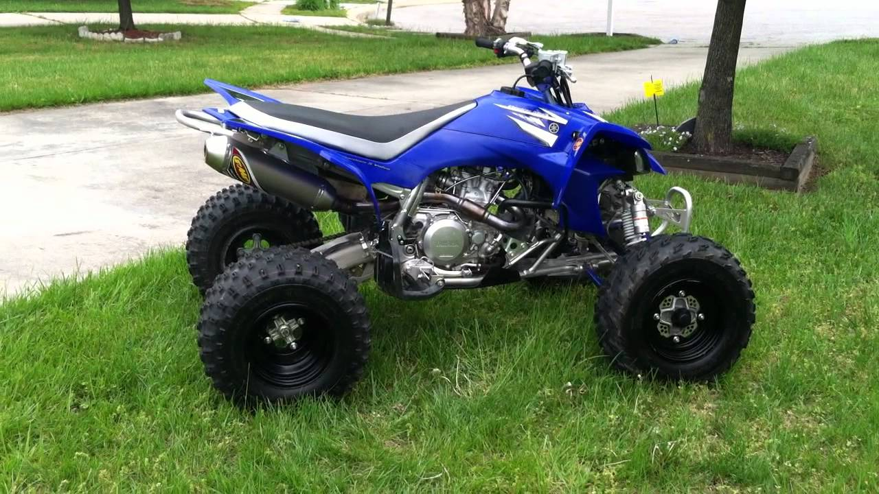 Yfz 450 With Fmf 4 1 Full Exhaust Walk Around And