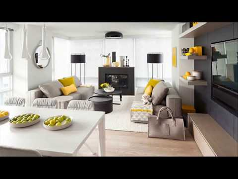 Black And Yellow Living Room Design