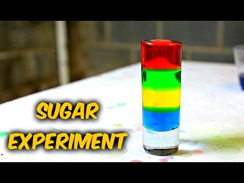 Awesome Sugar Water Density - Science Experiment