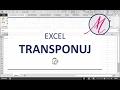 Excel: Transpozycja za pomocą formuły