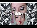 Vintage Glam: Silver Glitter Eyes with Orange-Red Lips! by CHERRY DOLLFACE