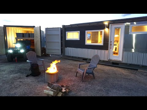 20' Off Grid Container Home That Can Be Placed Anywhere