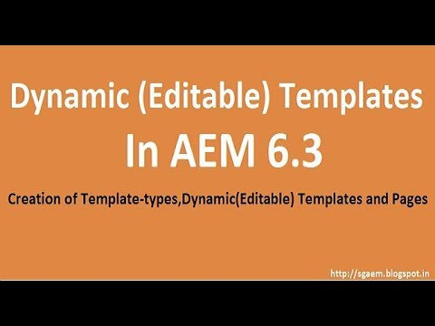 template editor in aem 6 3 creation of template types dynamic