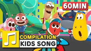 WHEELS ON THE CAR and SONGS FOR KIDS | COMPILATION  | Nursery Rhymes | LARVA KIDS Songs for Children