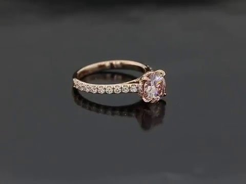 Rose Gold Barely Pink Engagement Ring