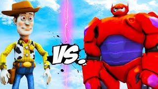 WOODY VS BAYMAX - Toy Story and Big Hero 6