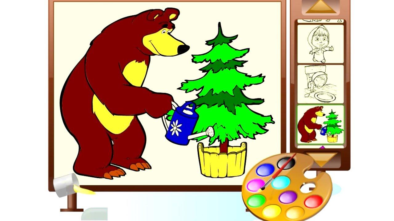 Видео для детей: Маша и медведь новая серия / игра ...
