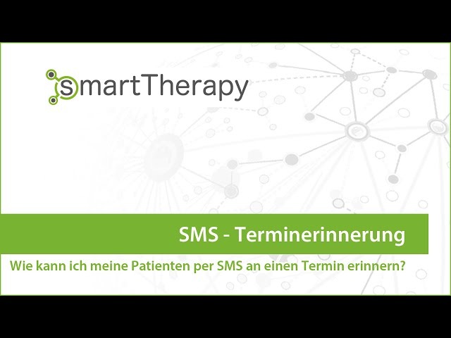 smartTherapy: SMS Terminerinnerung