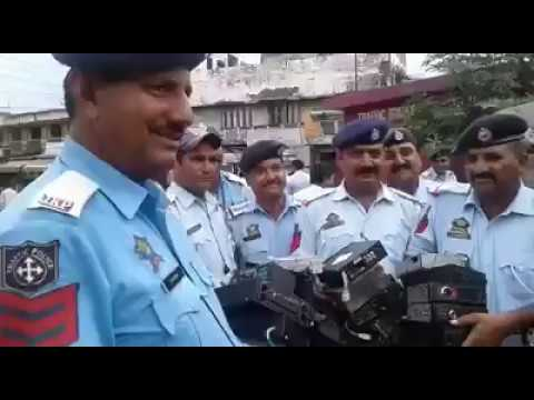 Music systems were taken out from matadors  by traffic police Jammu.