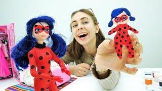 Делаем куклу Леди Баг для Супер Кота своими руками! Видео игры.