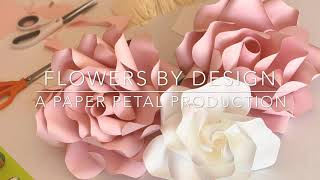 Tutorial How To Make Paper Rose Fast & Easy Diy Small Mini Paper Flower (cottage Rose)