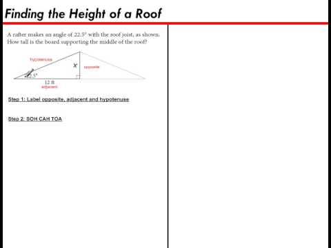 Finding The Height Of A Roof Youtube