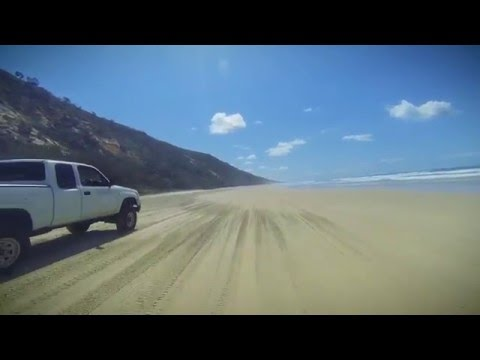 Noosa North Shore Beach Driving April 2016