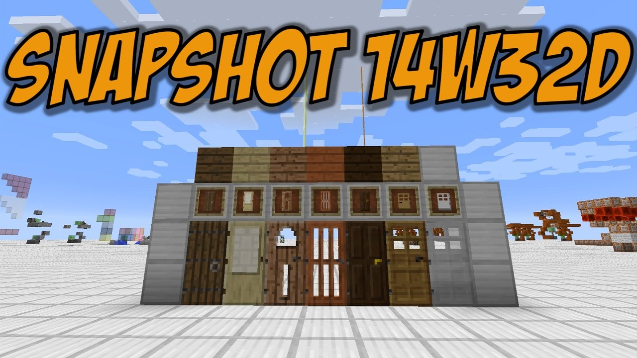 & Minecraft 1.8: Snapshot 14w32d - Doors for ALL wood types! - YouTube