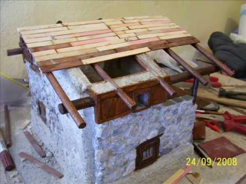 Costruzione di una baita in miniatura parte 7 youtube - Come costruire una casa in miniatura ...
