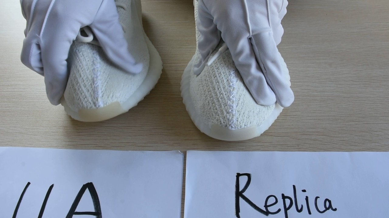 7fc03b8e04d36 Yeezy 350 v2 cream white real fake comparison   FOR EDUCATION   From  cocogod.club