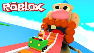Roblox Adventures / Uncle Grandpa Roller Coaster / Giant Grandpa Eats Me Alive!