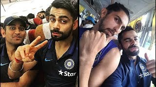 Cricket Fun in Bus ● Indian Cricket Team ● Virat Kohli ● & more..